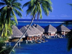 intercontinental tahiti resort and spa bungalow ocean blu lagoon